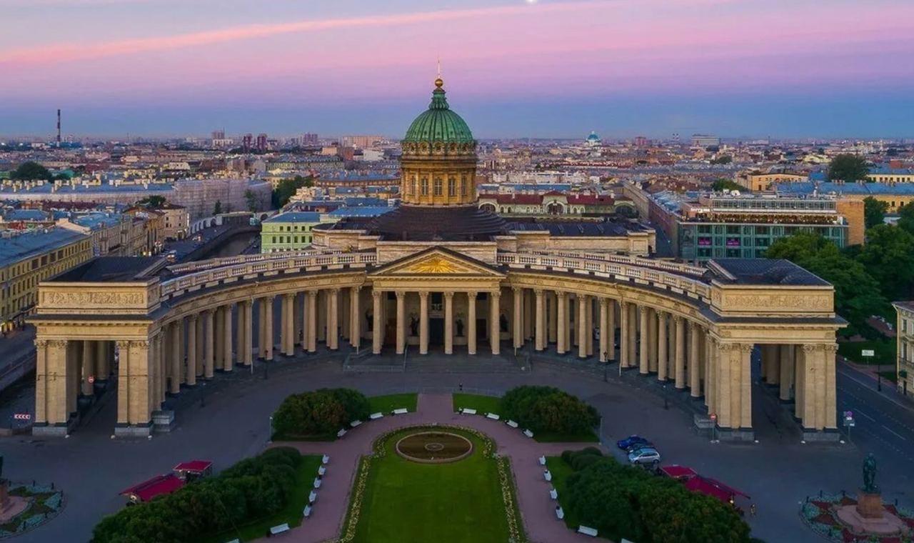 казанский собор вид сверху