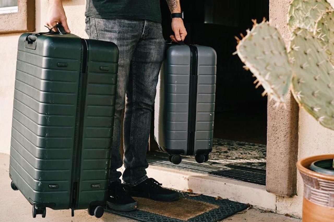 человек с двумя чемоданами